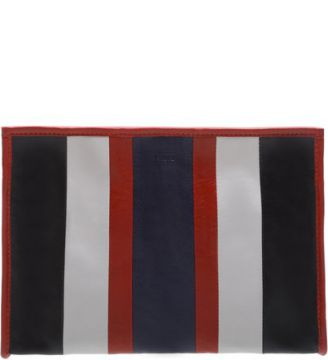 Clutch Amber Stripes Scarlet and Dress Blue   SCHUTZ