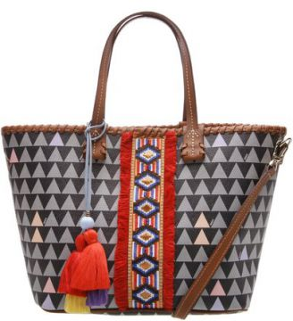 Mini Tote Triangle Ethnic Black   SCHUTZ