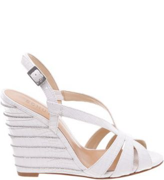 Anabela Stripes White   SCHUTZ
