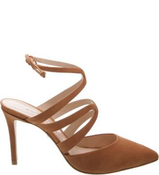 Scarpin Curves Lace Up Toasted Nut   SCHUTZ