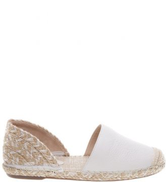 Espadrille Leather Braid Pearl SCHUTZ