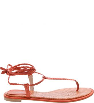 Sandália Rasteira Thin Red Orange   SCHUTZ