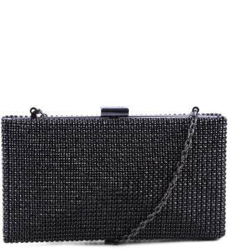 Clutch Strass Cristal Black - Schutz