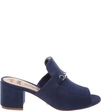 Mule Block Heel Dress Blue - Schutz