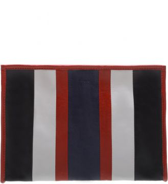 Clutch Amber Stripes Scarlet And Dress Blue - Schutz