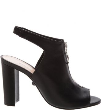 Open Boot Zip Block Heels Black - Schutz