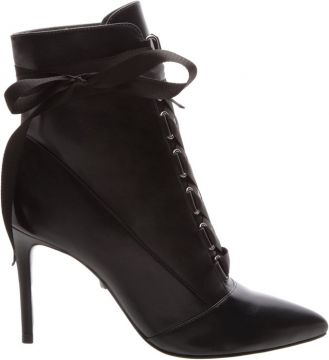 Pré Venda Ankle Bootie Gaga Lace Up Black - Schutz