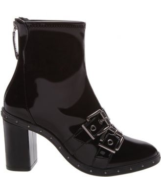 Stretch Boot Verniz Fivela Dupla Black - Schutz