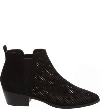 New Chelsea Boot Camurça Black - Schutz