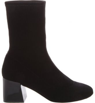 Sock Boot Block Heel Black - Schutz