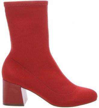 Sock Boot Block Heel Red - Schutz