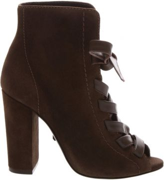 Open Boot Lace-up Nobuck Aloe - Schutz