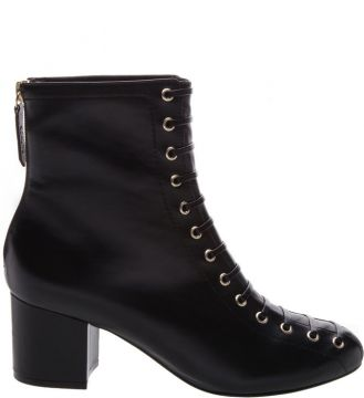 Lace-up Boot Block Heel Black - Schutz