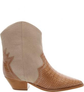 Cowboy Boot Multimaterial Croco Neutral - Schutz