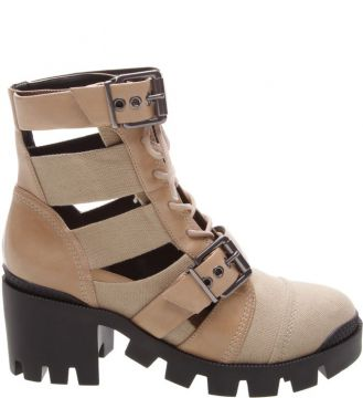 Cut Out Lace-up New Western Boot Neutral - Schutz