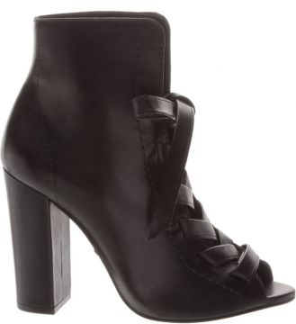 Open Boot Lace-up Nobuck Black - Schutz