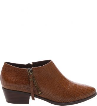 New Western Boot Croco Caramelo - Schutz