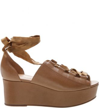Sandália Flatform Leather Natural - Schutz