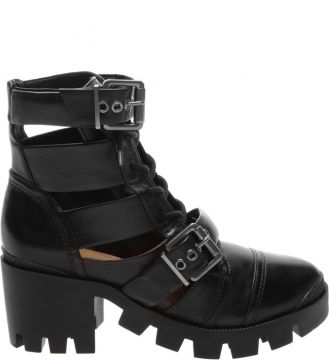 Pré-venda Cut Out Lace-up New Western Boot Black - Schutz
