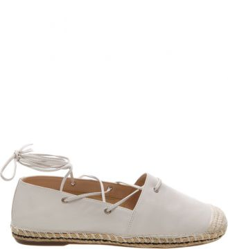 Espadrille Lace Up Leather Pearl - Schutz
