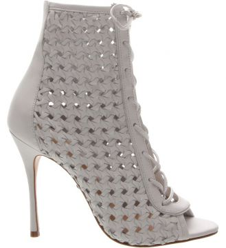 Open Boot Trama Lace-up White - Schutz