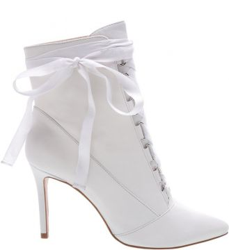 Ankle Bootie Gaga Lace Up White - Schutz