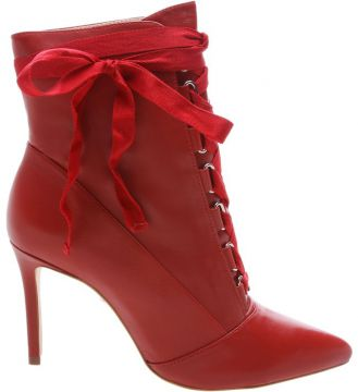 Ankle Bootie Gaga Lace Up Red - Schutz