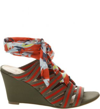 Sandália Anabela Multicolor Red - Schutz