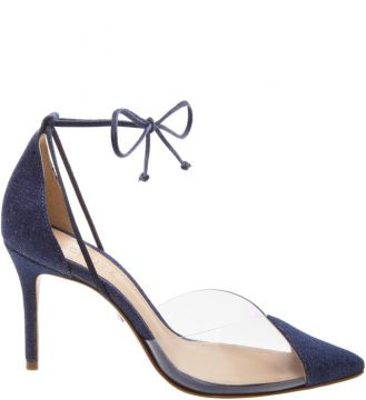 Scarpin Vinil Lace Up Denim - Schutz