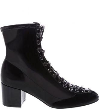 Lace Up Boot Vinil Black - Schutz