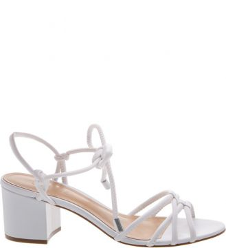 Sandália Block Heel Strings White - Schutz