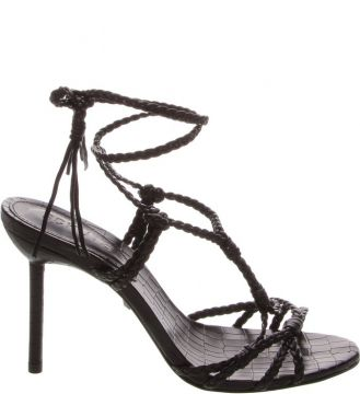 Sandália Salto Strings Lace-up Black - Schutz