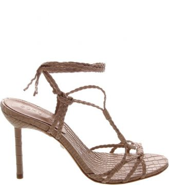 Sandália Salto Strings Lace-up Marrom - Schutz