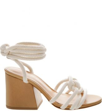 Pré-venda Sandália Block Heel Corda Lace-up White - Schutz