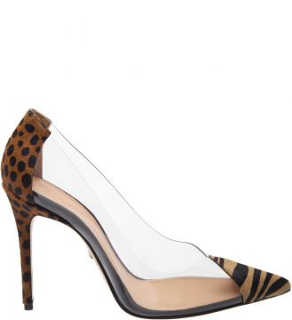 Scarpin Vinil Animal Print Yellow - Schutz