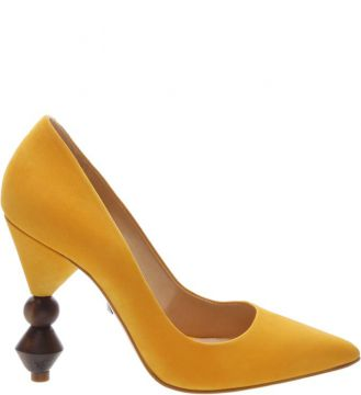 Scarpin Statement Heel Yellow - Schutz
