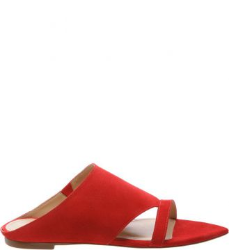 Pointy Flat Nobuck Red - Schutz