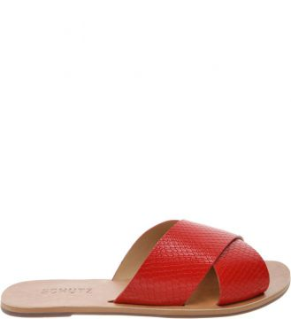 Flat Slide Cross Snake Red - Schutz