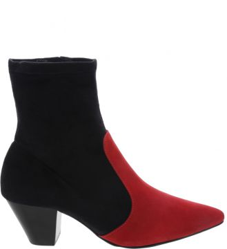 Sock Boot New Western Black & Red - Schutz