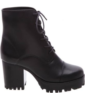 Combat Boot Block Heel Black - Schutz