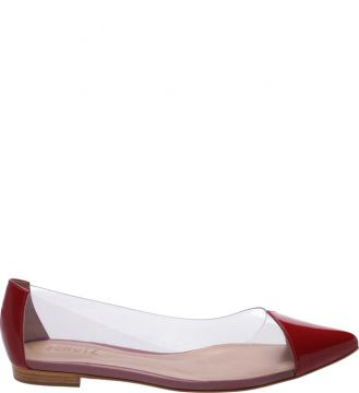 Sapatilha Pointy Crystal Red - Schutz