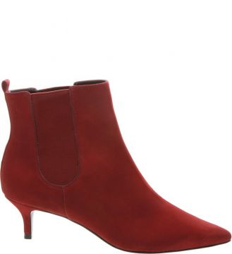 Bota Kitten Heel Red - Schutz