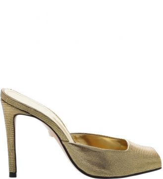 Mule High Open Toe Gold - Schutz