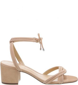 Sandália Block Heel Lace-up Neutral - Schutz