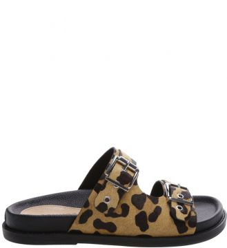 Slide Buckles Animal Print - Schutz