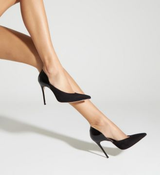 Scarpin Cut Out Verniz Mix Black - Schutz