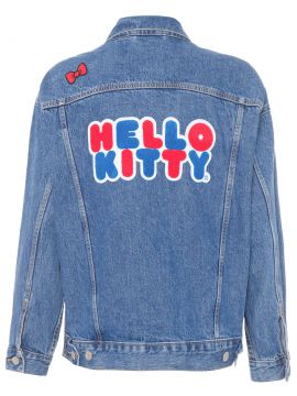 Jaqueta Feminina Jeans Trucker Dad Hello Kitty - Azul - Levi
