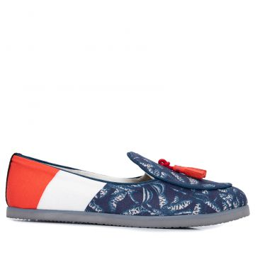 Loafer Unissex French Orquídeas - Azul - Dotz