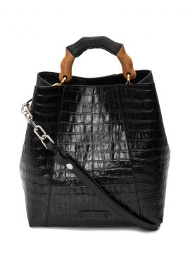 Bolsa Feminina Hobo Bag Believe Bright Croco - Preto - Schut