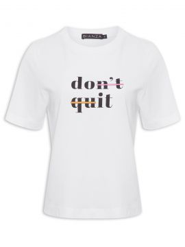 T-shirt Feminina Do It - Branco - Bianza
